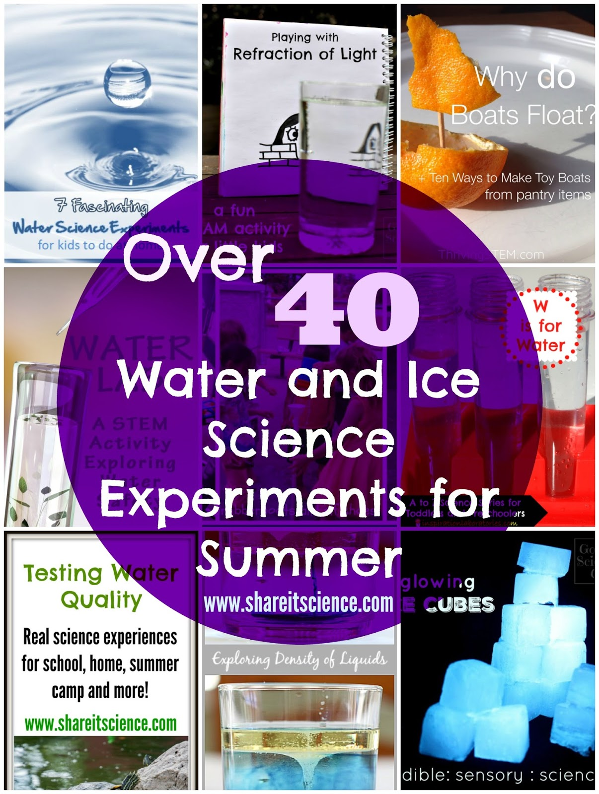 Share It Science Over 40 Water And Ice Science