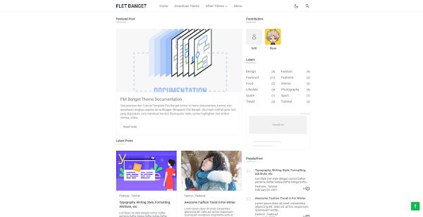 Flet Banget Responsive Blogger Theme