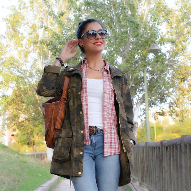 LOOK Tendencia Otoño Cazadora Militar & Jeans Straight