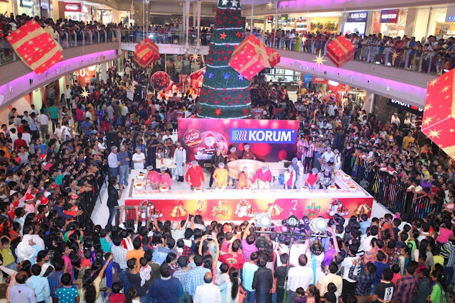 40 feet wide Christmas cake prepared with customers at KORUM