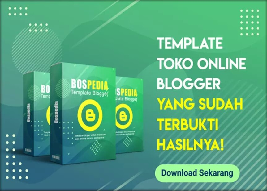 Bospedia, Template Blogger Tokopedia