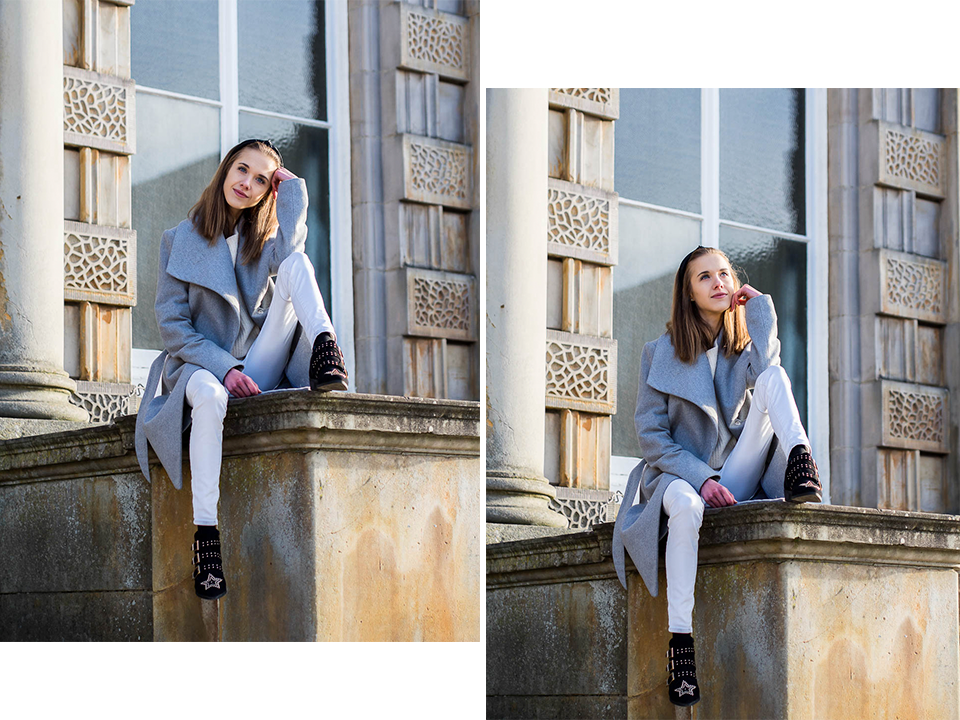 how to beat the winter blues plus white and grey winter outfit