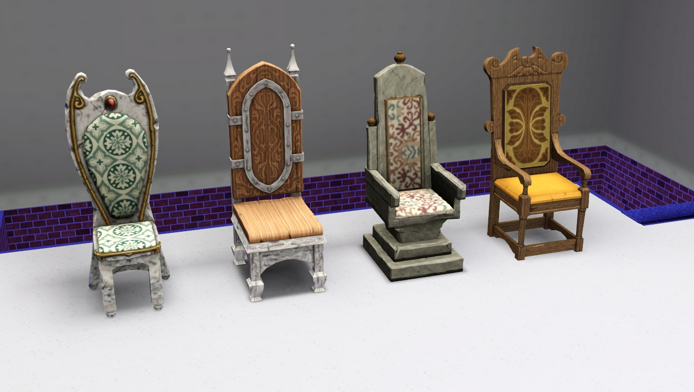 Medieval Dining Chairs Swing Chair Stand Only My Sims 3 Blog Living And By