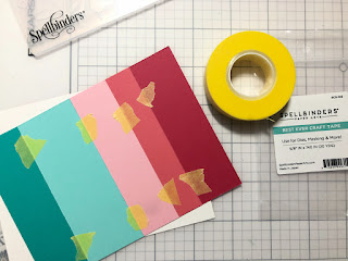 How to make a handmade card with a striped embossed background