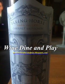 A tasting of the Flying Horse cabernet from Oakville, Napa, California