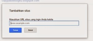 cara daftarkan blog ke google webmater tools