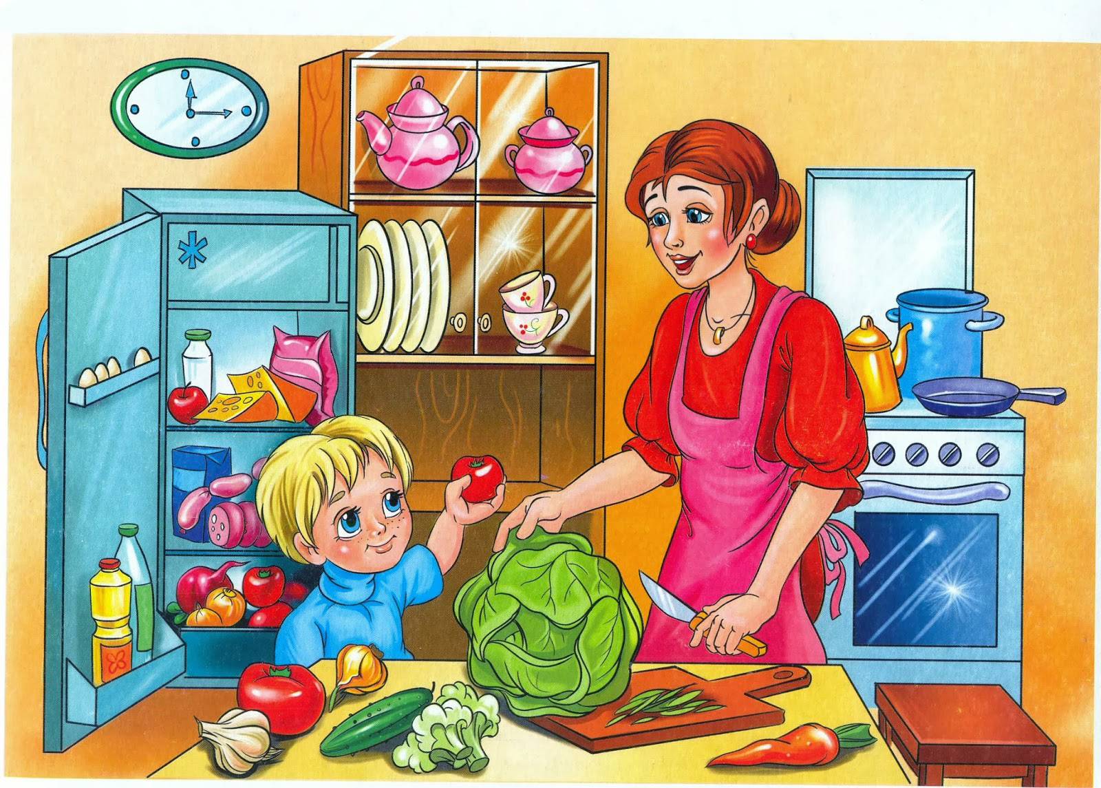 Картинки для детей мамин помощник