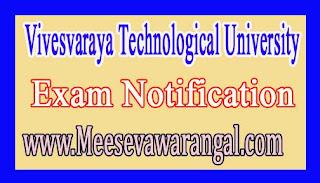 Vivesvaraya Technological University UG / PG Online Filing Application Revision 2016-17 NOtification