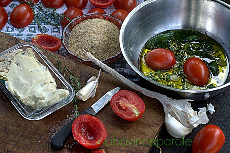 Pomodori gratinati al gorgonzola - ingredienti
