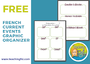 "French Current Events Graphic Organizer: ""Manic Monday"" Contribution"