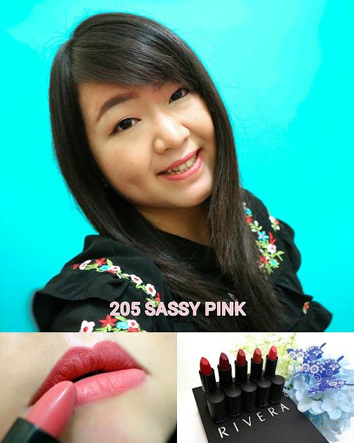 Rivera Absolute Matte Lipstick 205 Sassy Pink