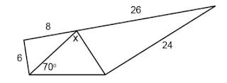 Pada gambar berikut, berapakah nilai dari x?