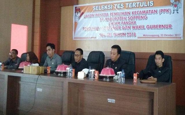 Tes Tertulis Calon PPK, Ketua KPU Soppeng: Tidak Ada Bocoran