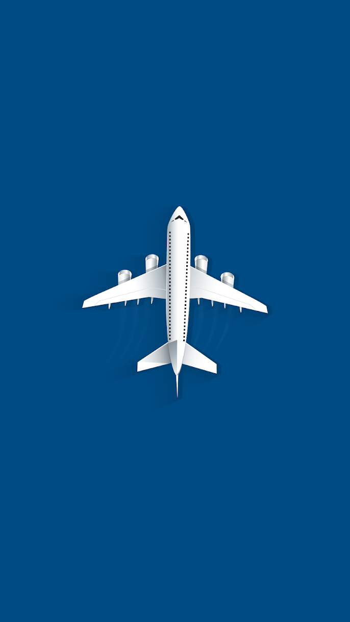 blue minimalism airplane mobile phone wallpaper hd