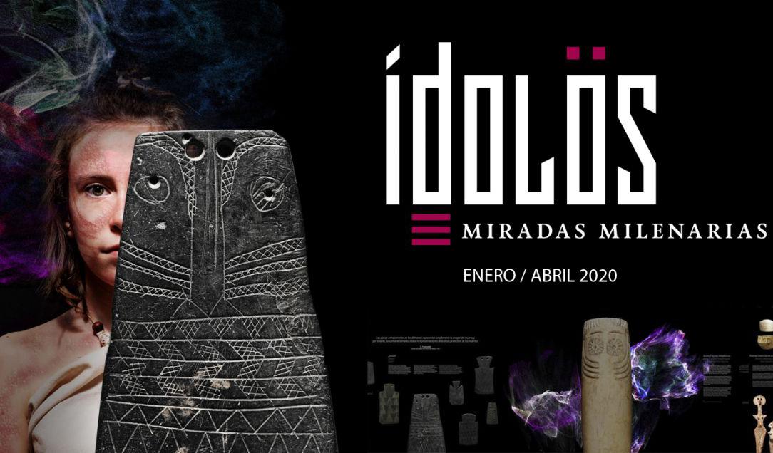 Imagen de la exposición Ídolos. Miradas milenarias en el Museo Arqueológico de Alicante. Foto: MARQ.