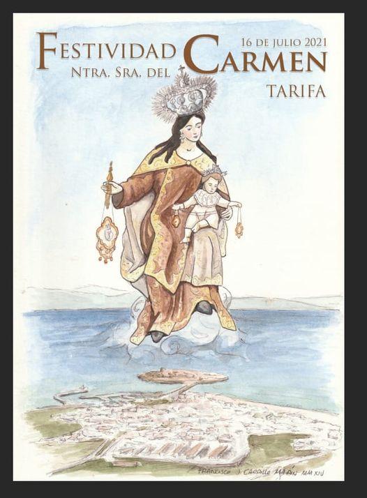 Cartel de la Festividad de Ntra. Sra. Del Carmen de Tarifa 2021