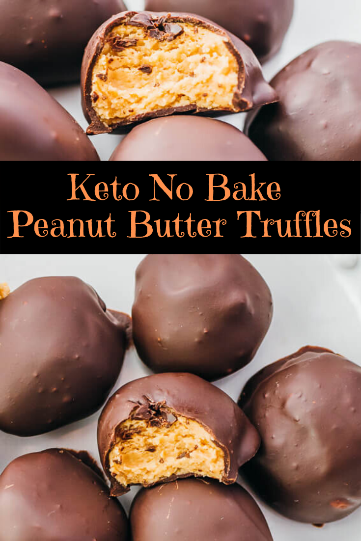 Keto No Bake Peanut Butter Truffles