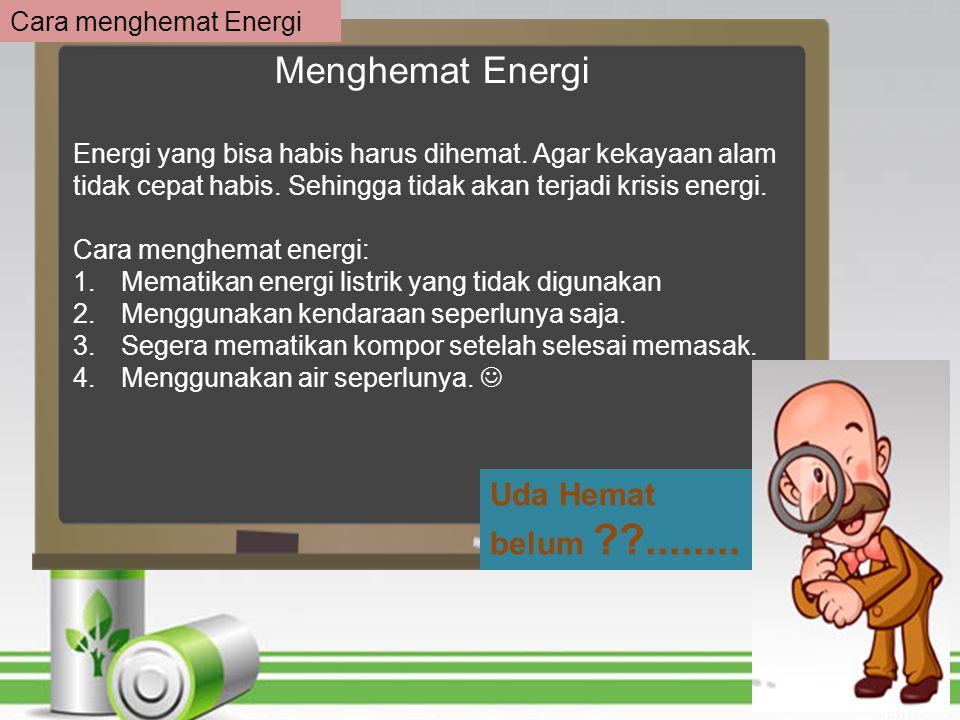 Cara Menghemat Energi Dalam Rumah