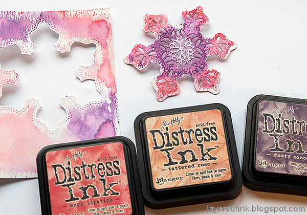 Layers of ink - Snowflake Shaker Card Tutorial by Anna-Karin Evaldsson.