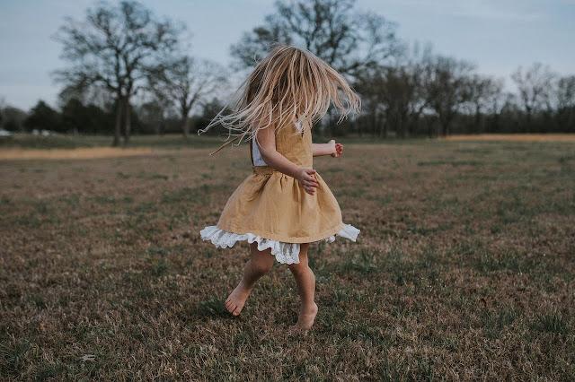 Cute girl in field image