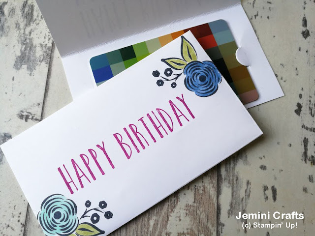 Sweet gift card holder using the narrow notecards and envelopes