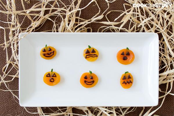 Apricot Jack-O'-Lanterns #halloweenpartysnack