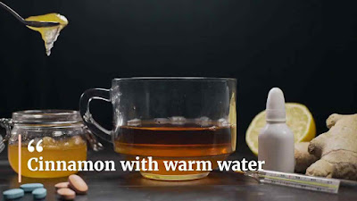 Cinnamon with warm water
