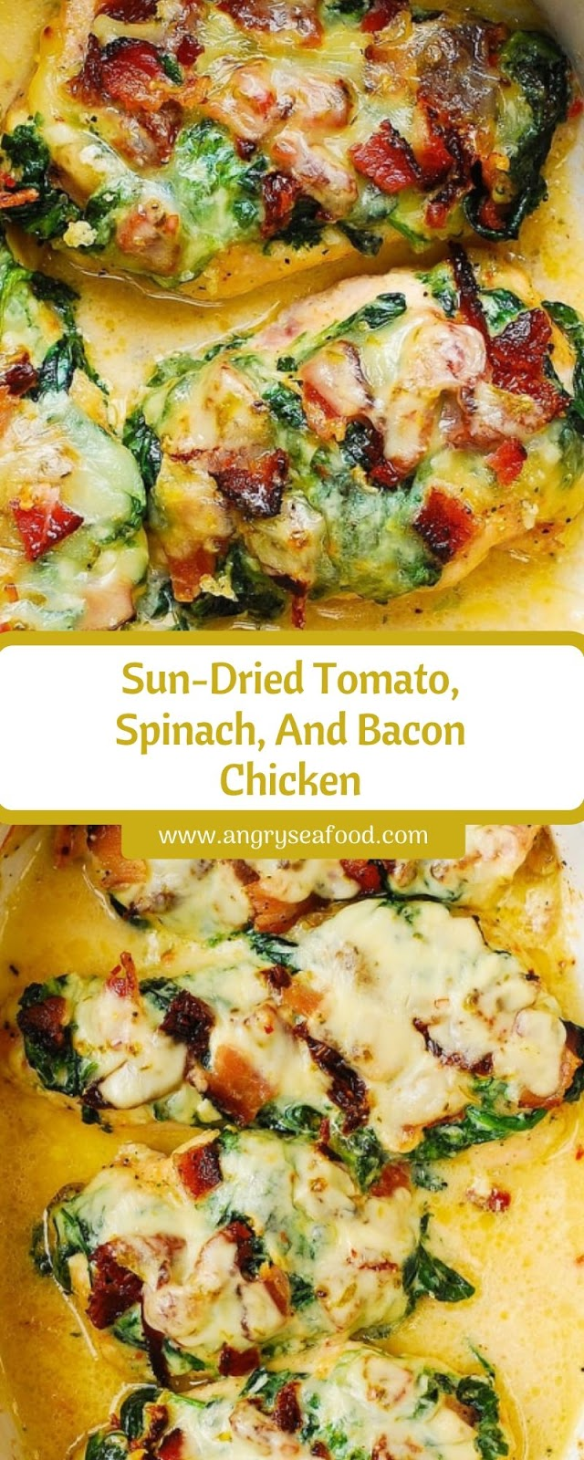 Sun-Dried Tomato, Spinach, And Bacon Chicken