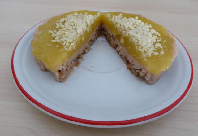 cheesecake vegana alle pesche