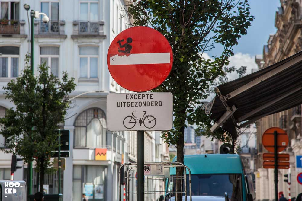 Discover some of the best Brussels Street Art - Clet Abraham