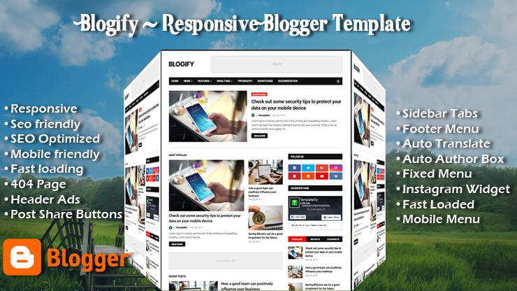 Blogify Pro Responsive Blogger Template