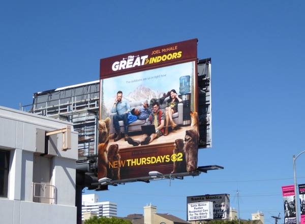Great Indoors series premiere billboard