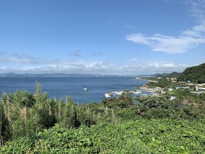 洲埼灯台 展望所からの景色