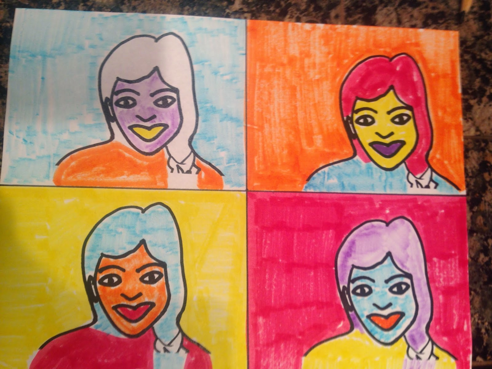 Art A Baloo Crew Self Portraits Done In Andy Warhol Style