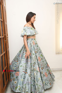 Actress Pragya Jaiswal Stills in Floral Dress at turodu Interview  0202.JPG