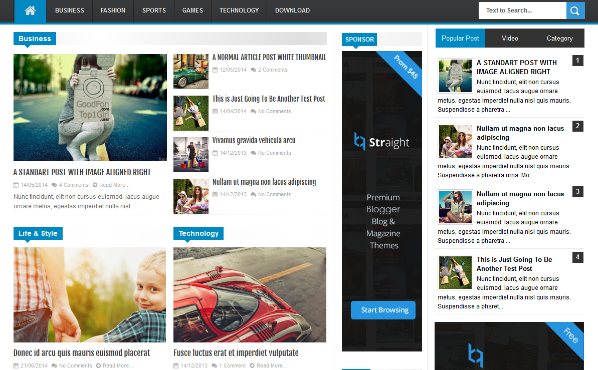 Linezap High CTR Magazine Blogger Template - High CTR Blogger Template