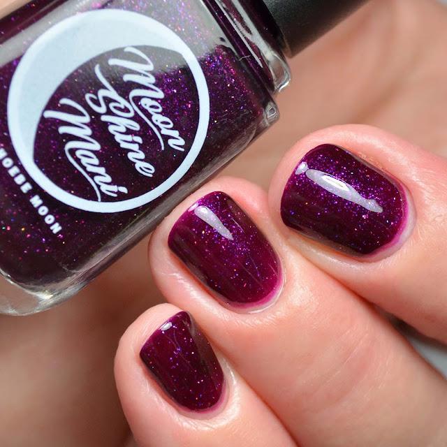 plum shimmer nail polish