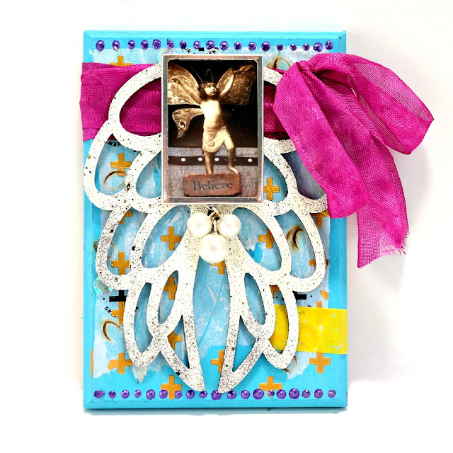 Believe Mixed Media Wings Plaque by Dana Tatar for Tando Creative