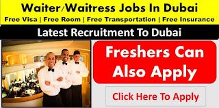 Urgently Required for Asian Waiters/ Waitresses Work in Restaurants Deira, Dubai Location