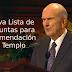Ajuste a Preguntas de Recomendación de Templo compartido por el Profeta