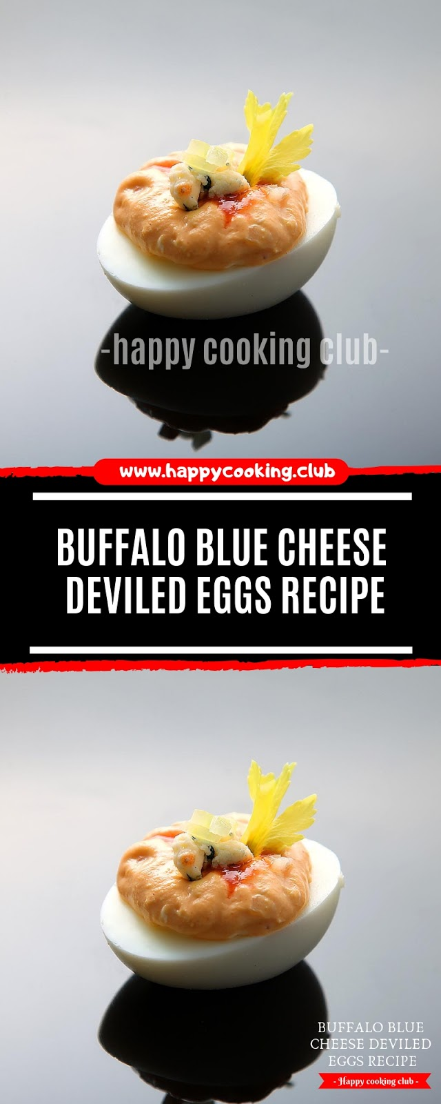 Buffalo Blue Cheese Deviled Eggs Recipe