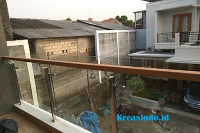 railing murah berbahan kaca