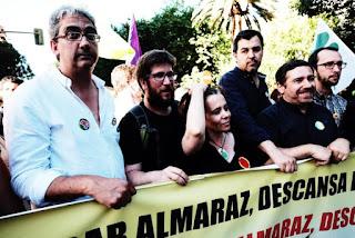Fotografia de manifestação em Almaraz