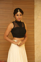 Roshni Prakash in a Sleeveless Crop Top and Long Cream Ethnic Skirt 102.JPG