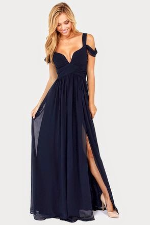 Navy Blue Maxi Dress