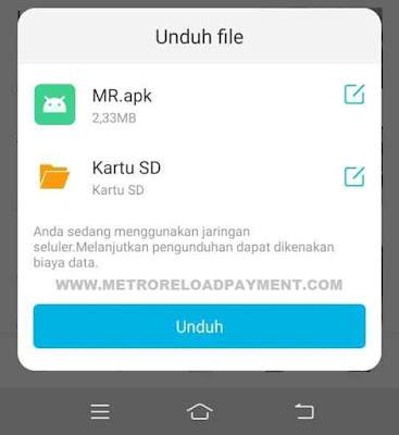 Download MR Mobile Topup Aplikasi Metro Reload Pulsa