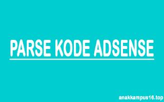 parse kode adsense