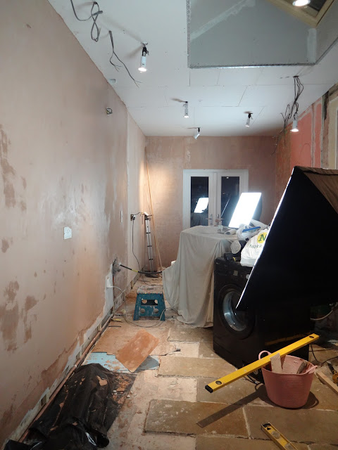 messy plaster during renovation