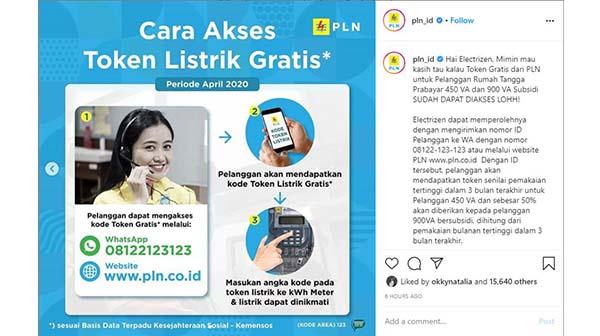 Cara Mendapatkan Token Listrik Gratis Melalui Website www.pln.co.id dan WhatsApp