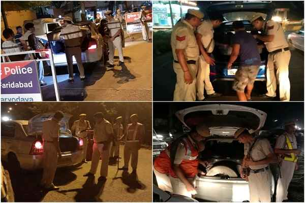 faridabad-police-started-night-domination-checking-abhiyan-news